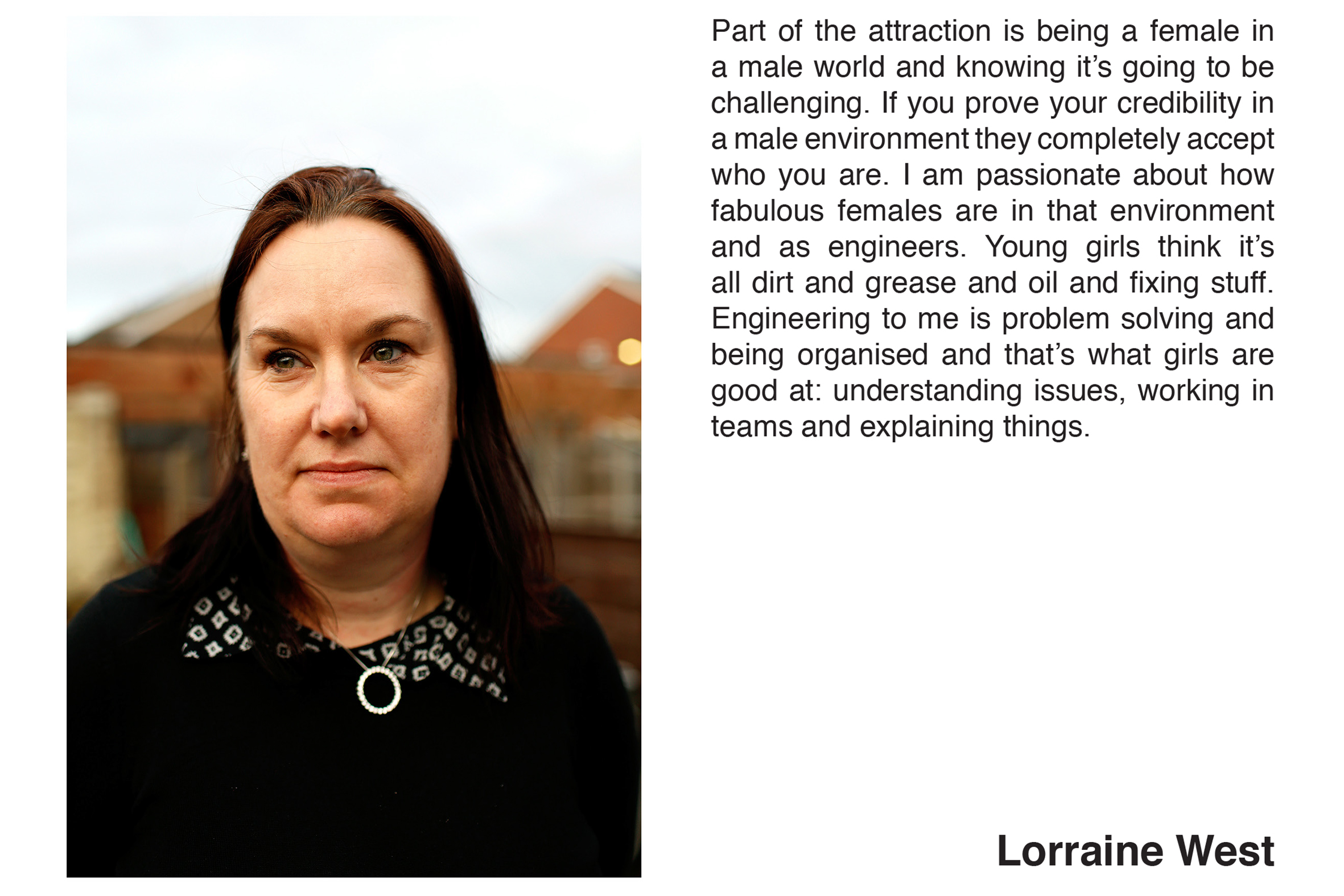 Lorraine West from the series 'Women of Longbridge' by Hannah Hull & Stephen Burke