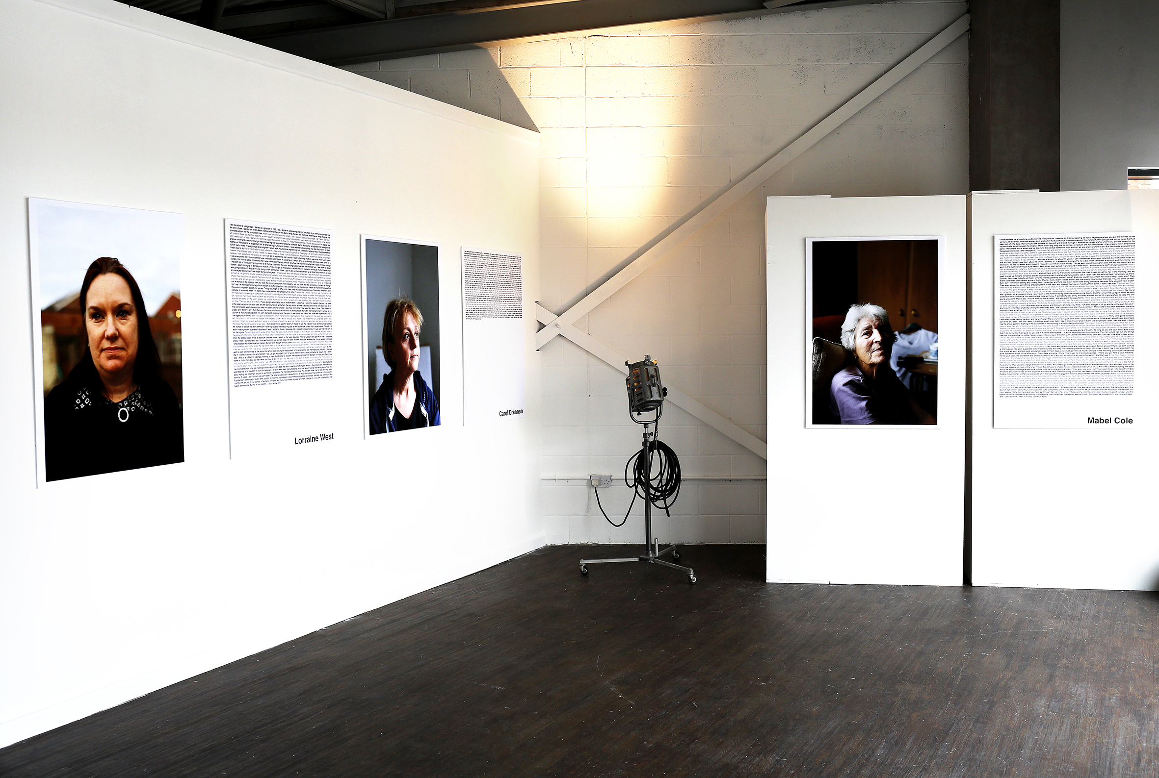 Installation photograph from the 'Women of Longbridge' Exhibition