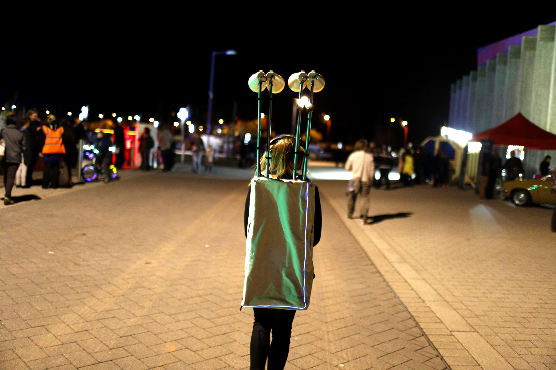 'Town Crier' by the Institute of Boundary Interactions, part of Longbridge Light Festival 2014