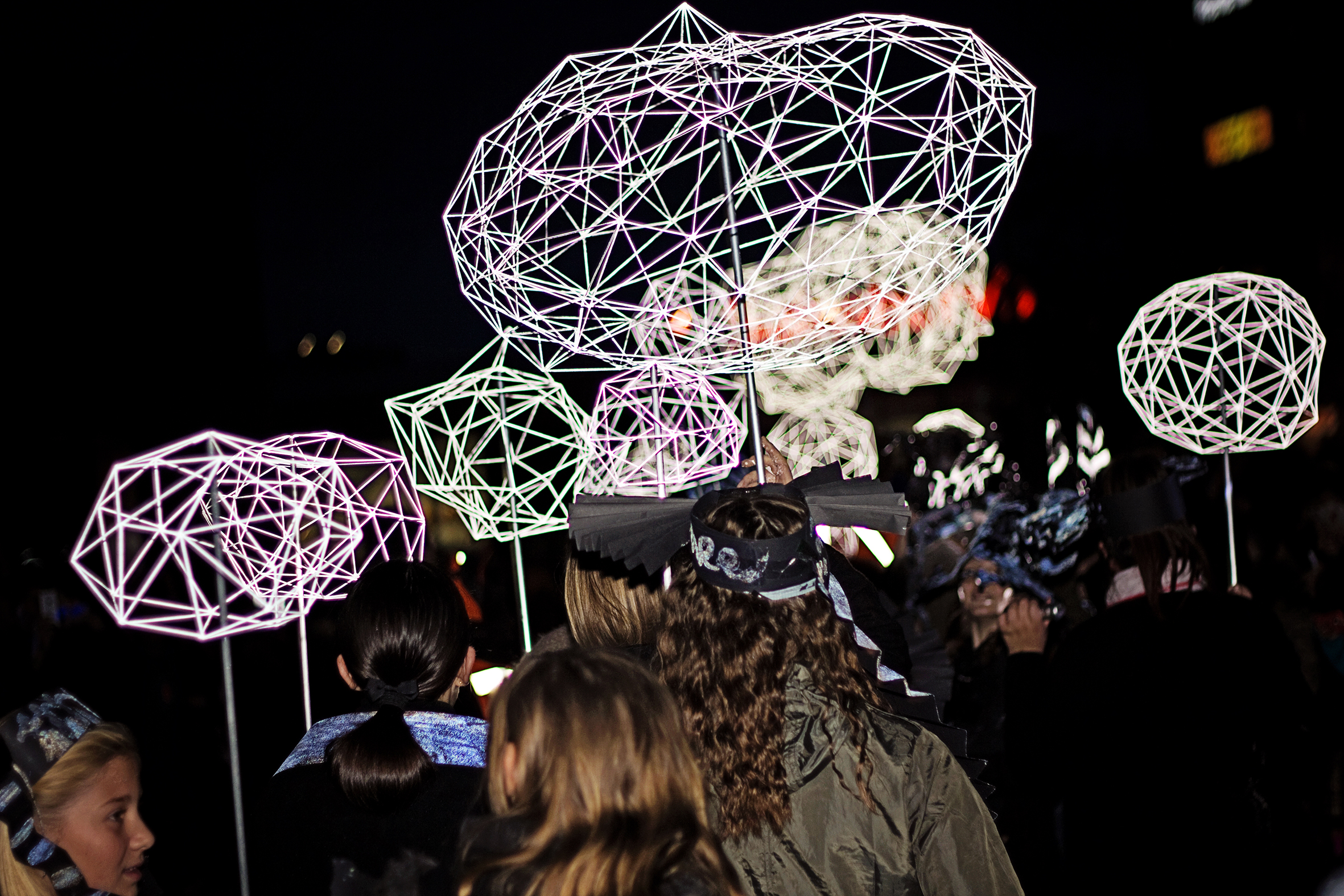 'Lantern Parade' by Ruth Claxton and Turves Green Girls School for Longbridge Light Festival 2014