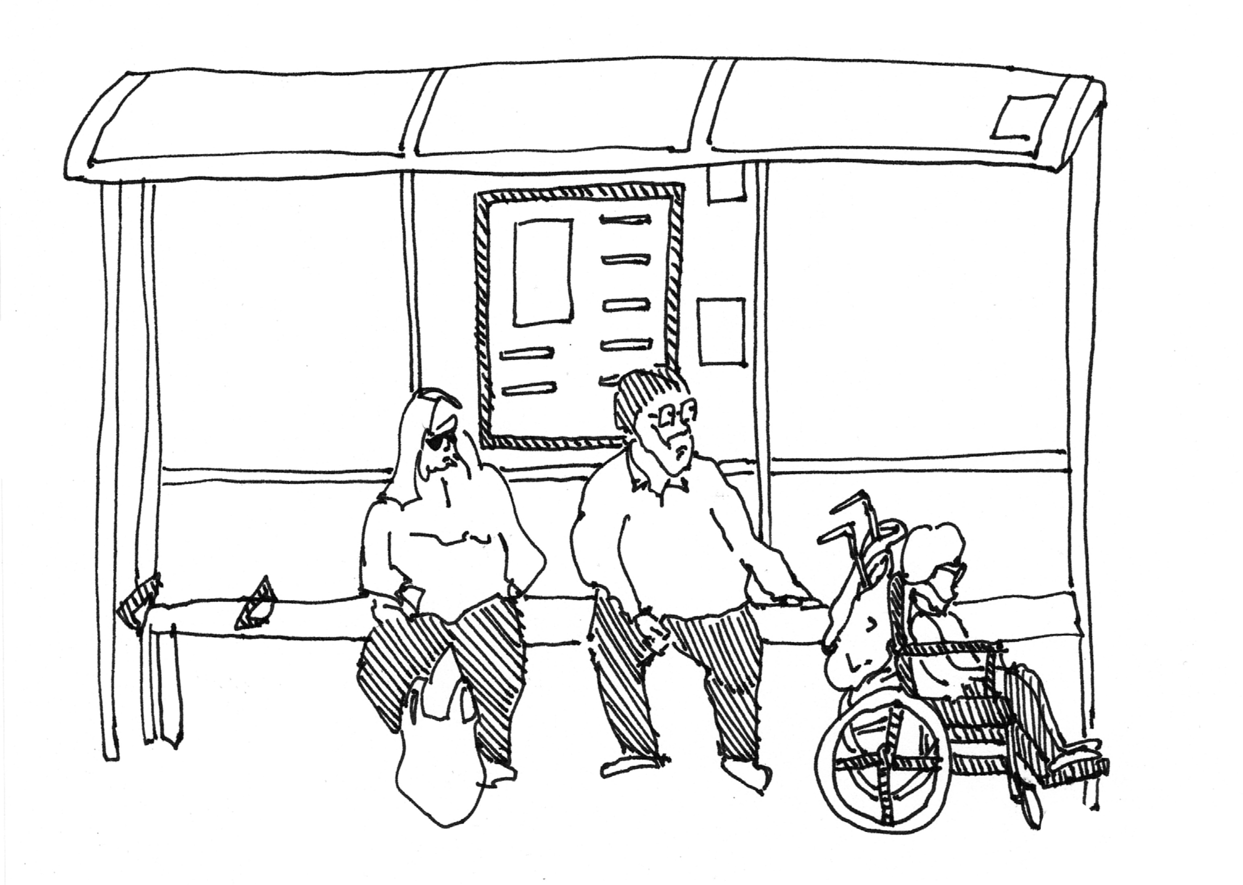 Observational drawings of life in Longbridge by Sarah Taylor Silverwood