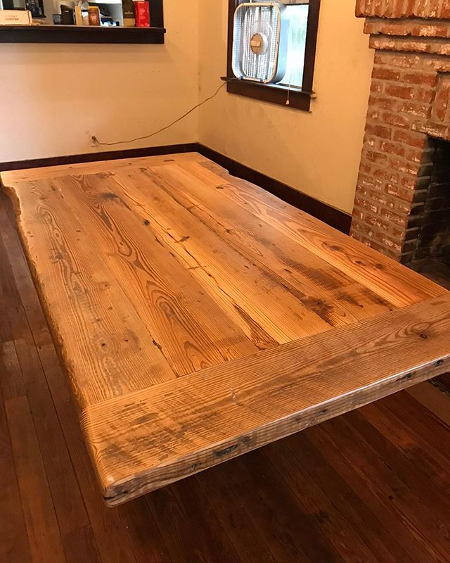 We've been busy working on quite a few client projects - like this tabletop! 🔨 We can't wait to share more with you.⠀ .⠀ .⠀ .⠀ #villageofthearts #woodwork #handmade #customtable #handcrafted #furniture #oneofakind #interiordesign #homedesign #Customfurniture #rusticfurniture #statementpiece #srq #bradenton #lakewoodranch #sarasota #customhome #reclaimedwood #farmhouseinspired #farmhousestyle #shopsmall #shopsmallbusiness #shopsmallsrq #shopsmallbradenton #shoplocal #foresttofinish #forest2finish #f2f #f2fdesigns #foresttofinishdesigns