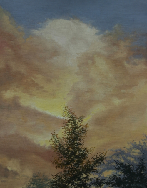 """""""Summer Storm"""" 11""""x14"""" Oil on canvas"""