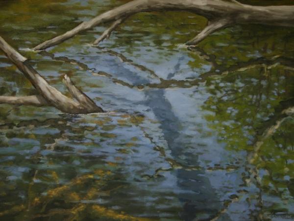"""Canoe Painting 1"" 16""x12"" Oil on canvas"