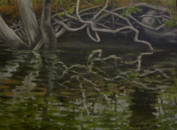 """Canoe Panting 2"" 16""x12"" Oil on canvas"