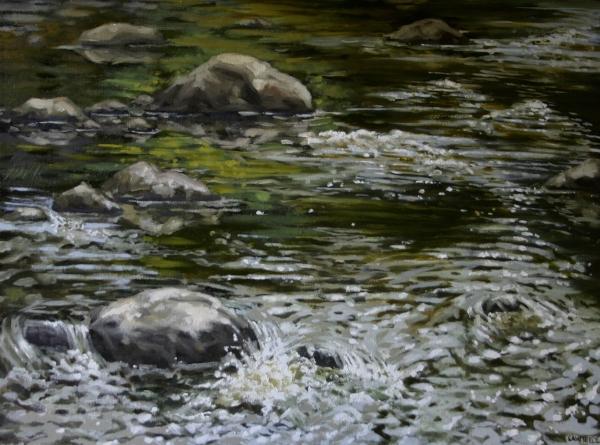 """Canoe Painting 4"" 16""x12"" Oil on canvas"