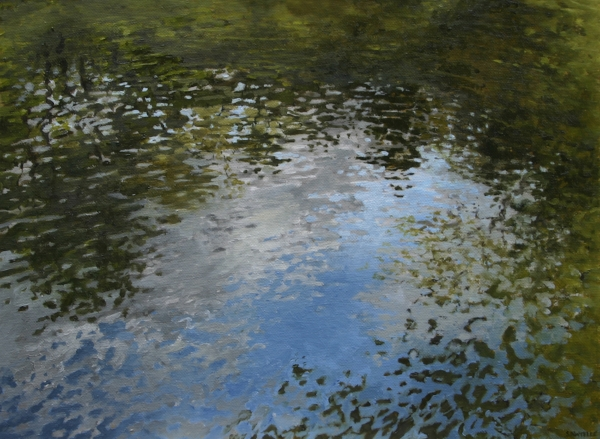 """Canoe Painting 5"" 16""x12"" Oil on canvas"