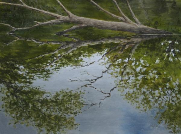 """Canoe Painting 6"" 16""x12"" Oil on canvas"