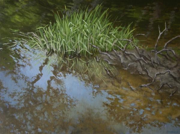 """Canoe Painting 7"" 16""x12"" Oil on canvas"