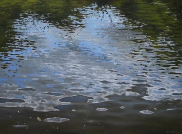 """Canoe Painting 9"" 16""x12"" Oil on canvas"