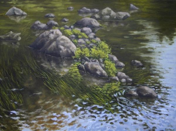 """Canoe Painting 10"" 16""x12"" Oil on canvas"