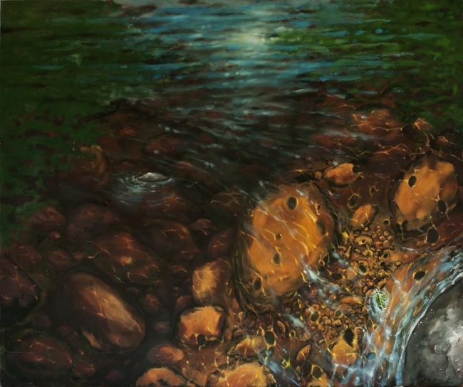 """Stoney Creek Memory"" 50""x42"" Oil on canvas"