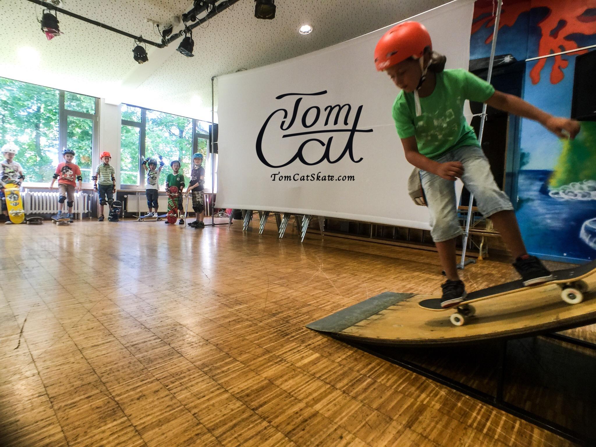 Skatekurs München Bad Tölz Jugendcafe mit Profi Skateboarder Tom Cat Kleinhans.JPG