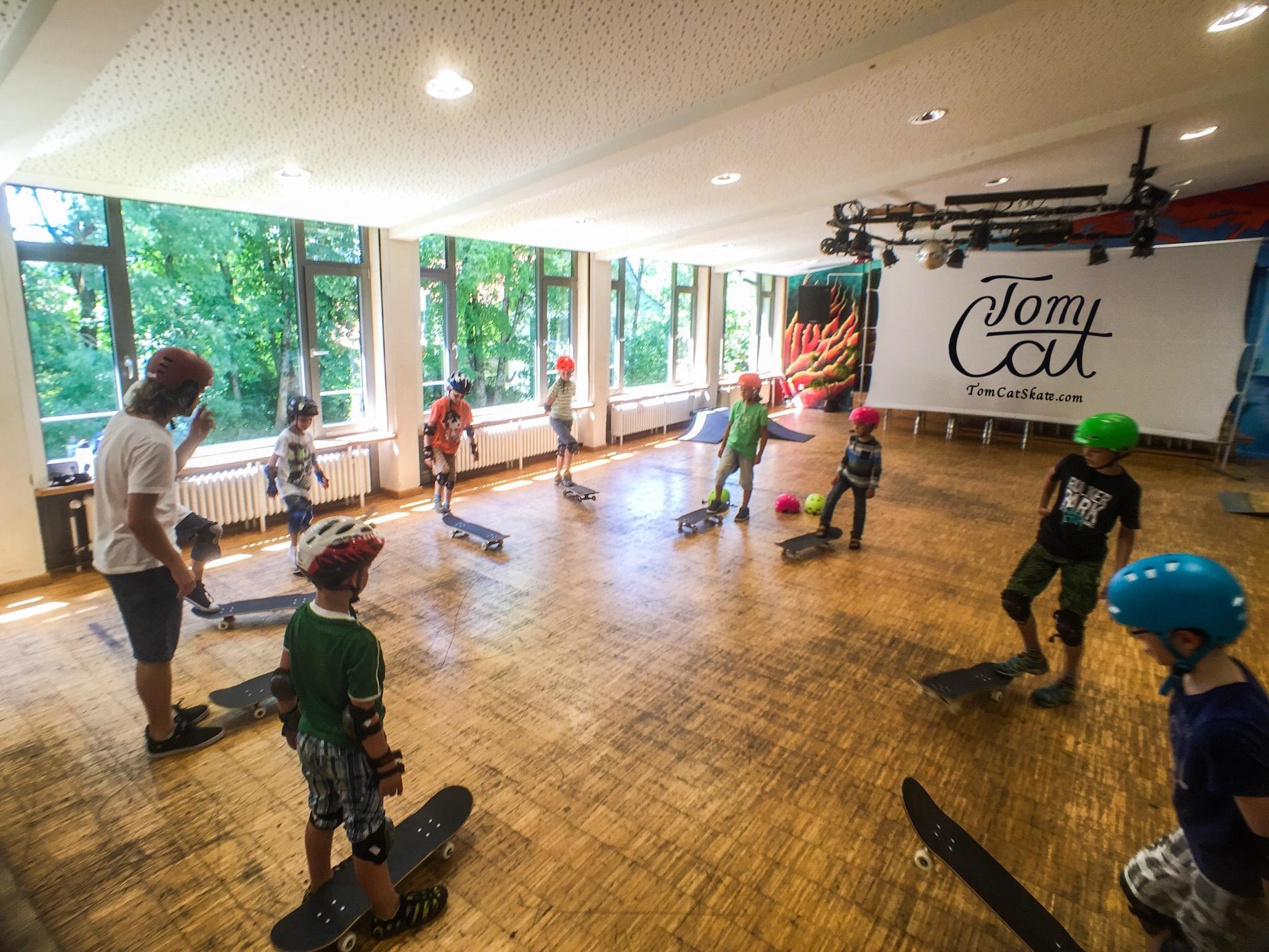 Skatekurs München Bad Tölz Jugendcafe mit Profi Skateboarder Tom Cat .JPG