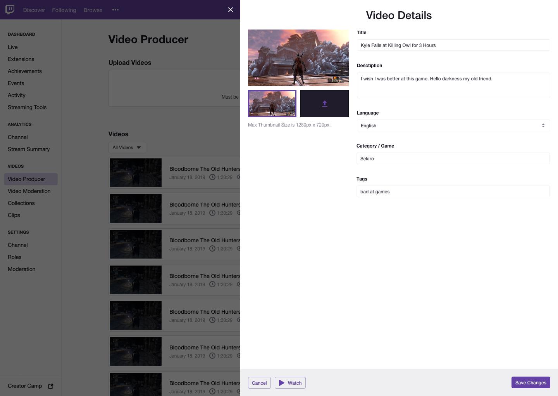 Light Mode - VIdeo Producer Details.png