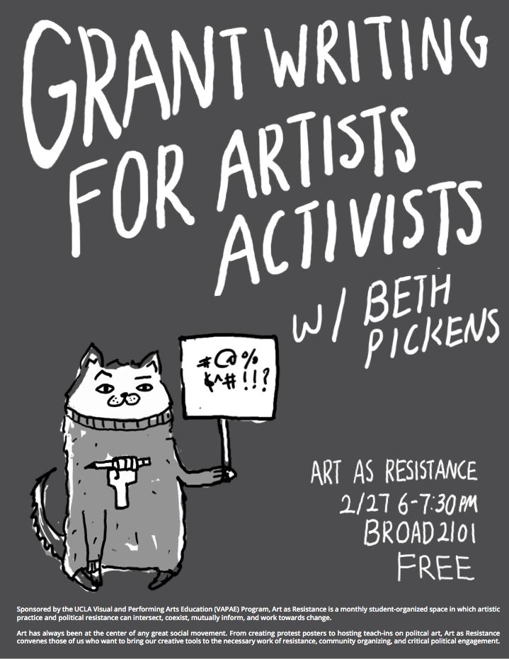 photo: grant writing workshop flyer