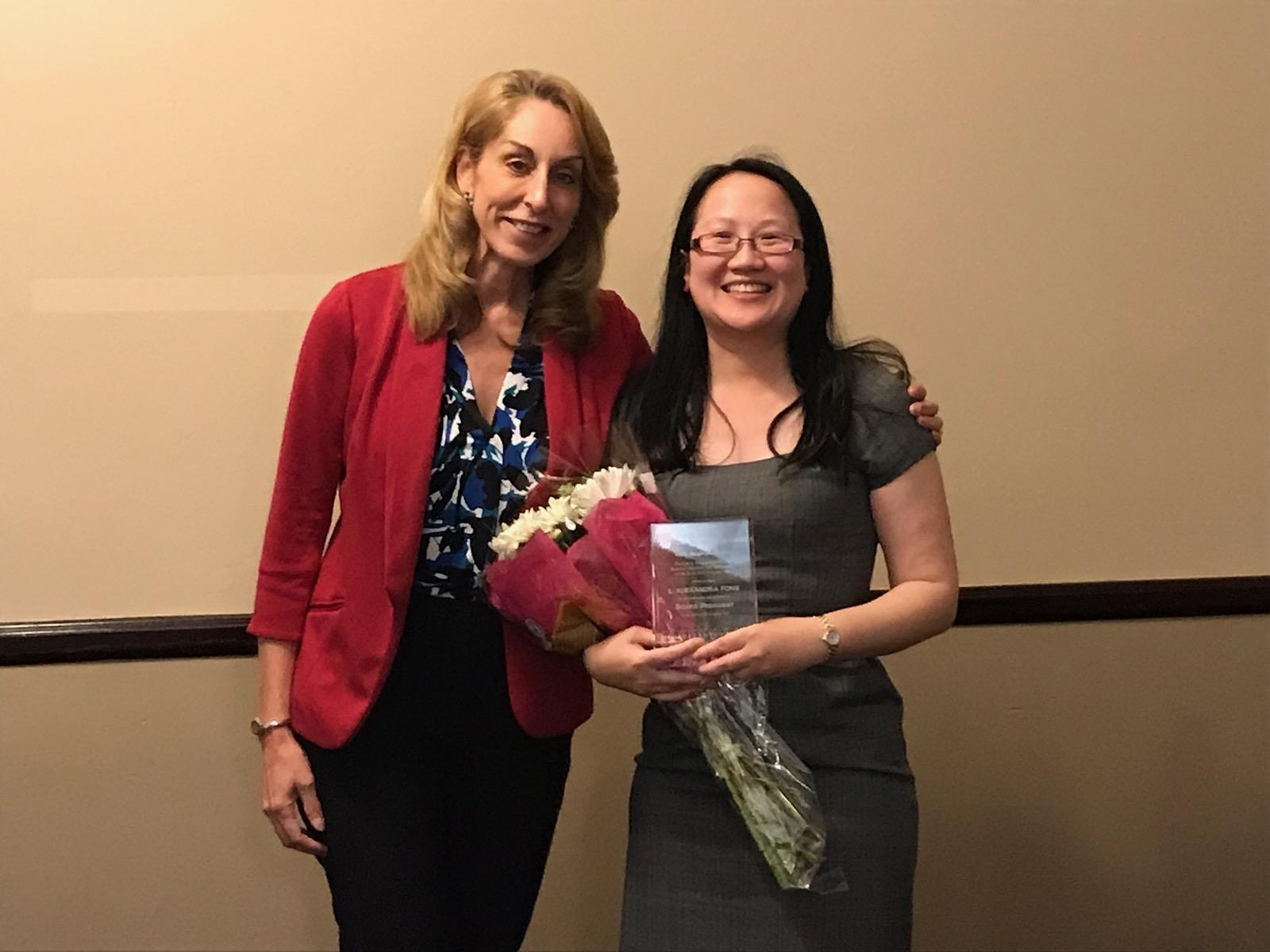 Hon. Bambi Moyer, President-Elect, and L. Alexandra Fong, President of the Leo A. Deegan Inn of Court for the 2018-2019 Program Year.
