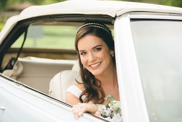 Arriving to her first look in style!  Looking for a photographer for your wedding? www.MattSurette.com for all inquiries!  #wedding #bostonwedding #bride #theknot #firstlook