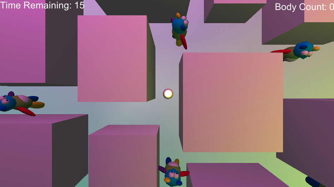 My first game! Unfortunately, it no longer runs since a Unity update.
