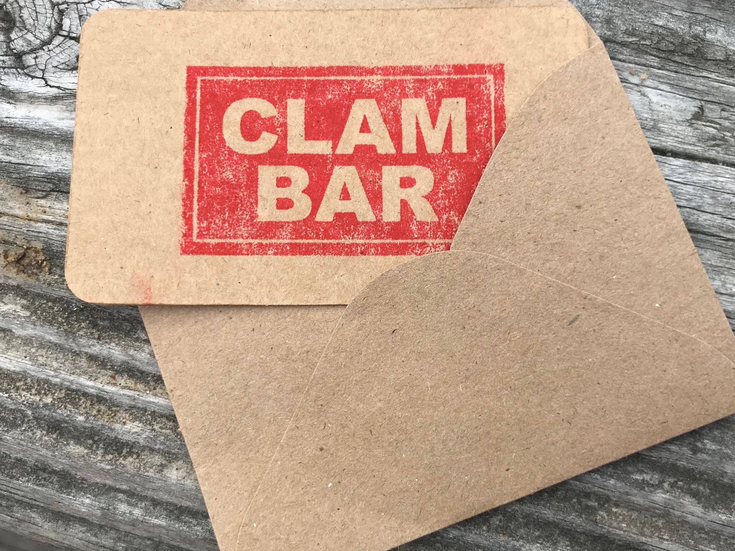 Give the gift of the Clam Bar - Gift cards available in any amount