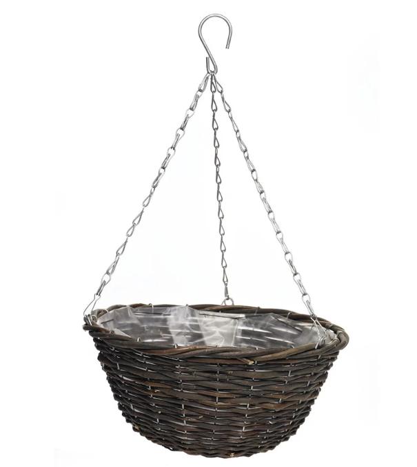 Wicker hanging baskets -