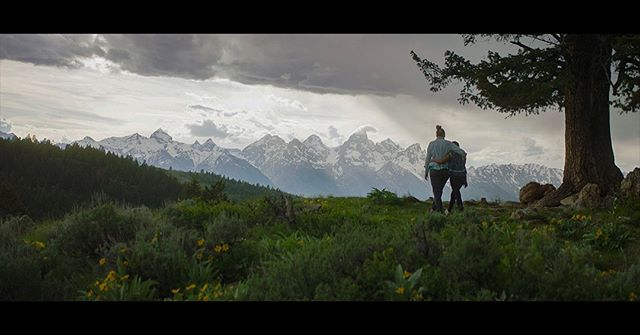 Blue hour in the mountains. Grand Tetons, 2019. Anamorphic.