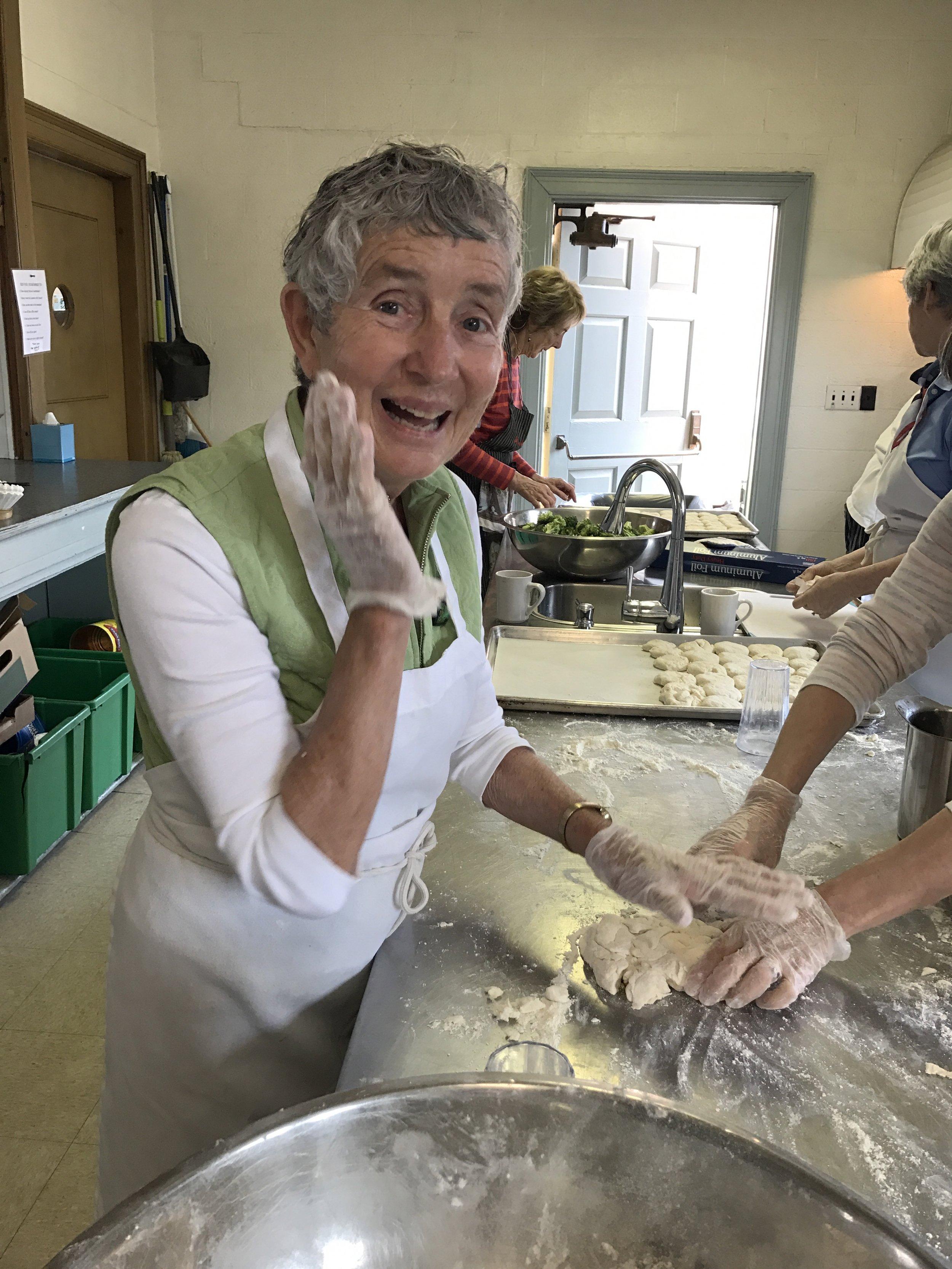 Diane, one of our many wonderfully dedicated volunteers.