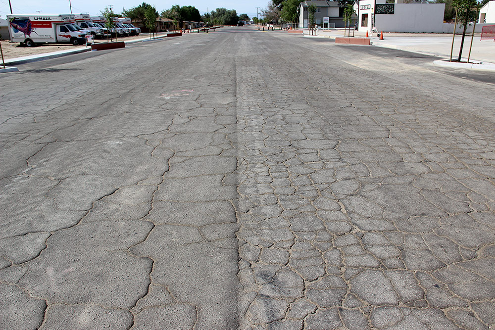Distressed Road Before