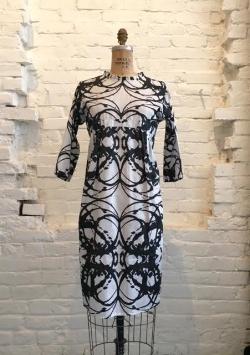 Sugar Magnolia Dress with 3/4 sleeve  $278 through Studio Amanda Talley