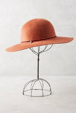 Rancher hat trimmed in velvet available through Anthropologie.