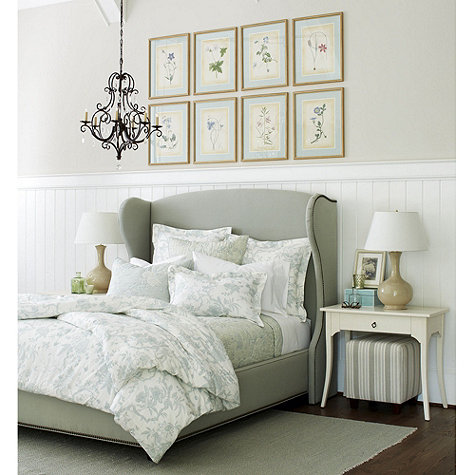 Ballard Designs is a great source for custom headboards at a reasonable price
