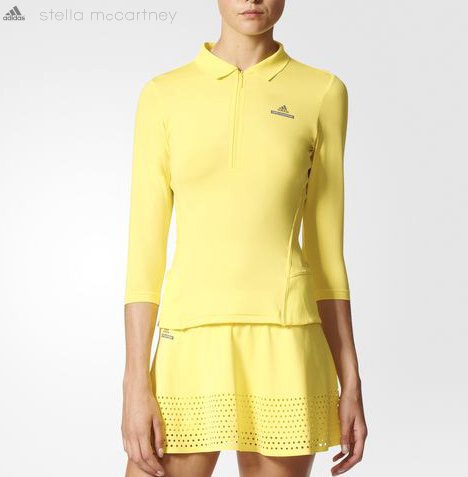 A set from Stella McCartney's popular Adidas collaboration. Technical skirt and top,approximately $70 apiece.