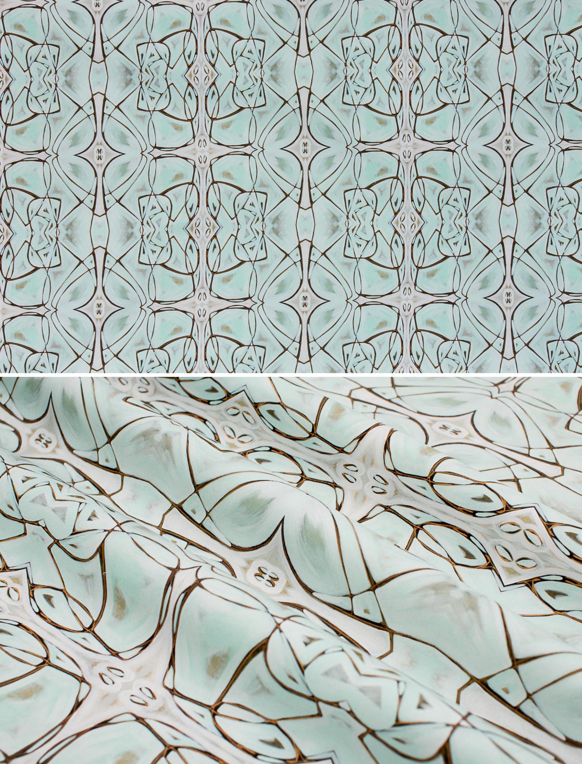 "Gogo   Linen Cotton Canvas 36"" x 54"" Repeat is 9.36"" x 7.11"""