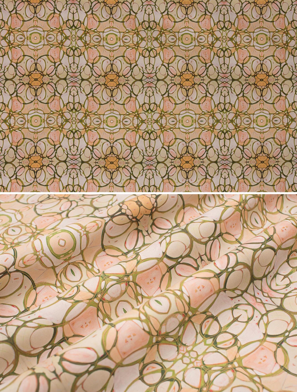 "Magnolia Mound   Linen Cotton Canvas 36"" x 54"" Repeat is 6.76"" x 7.55"""
