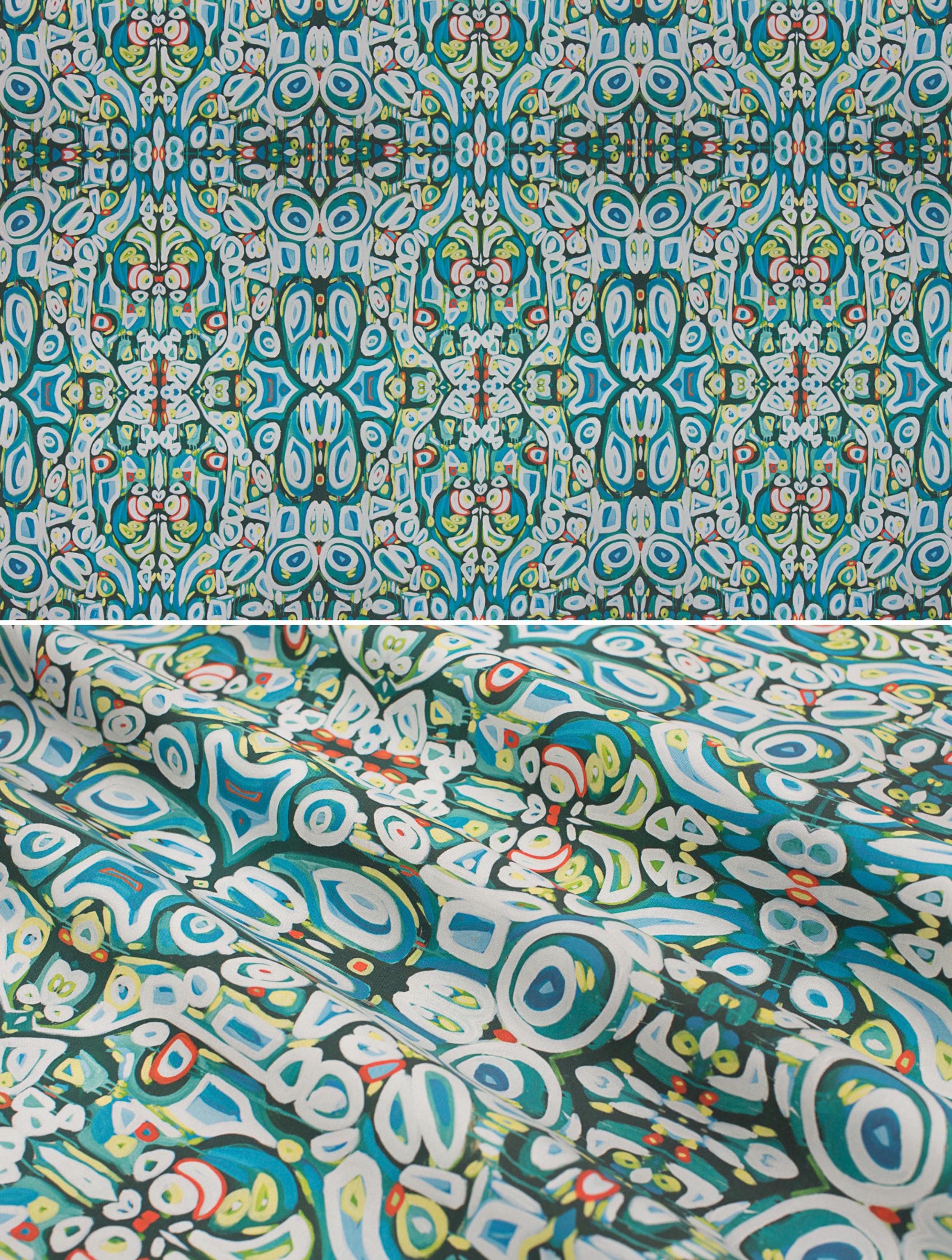 "Moroccan Garden   Linen Cotton Canvas 36"" x 54"" Repeat is 9.00"" x 13.50"""