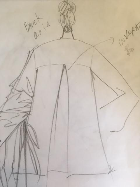 """Initial sketches for the """"Cassandra"""" blouse"""