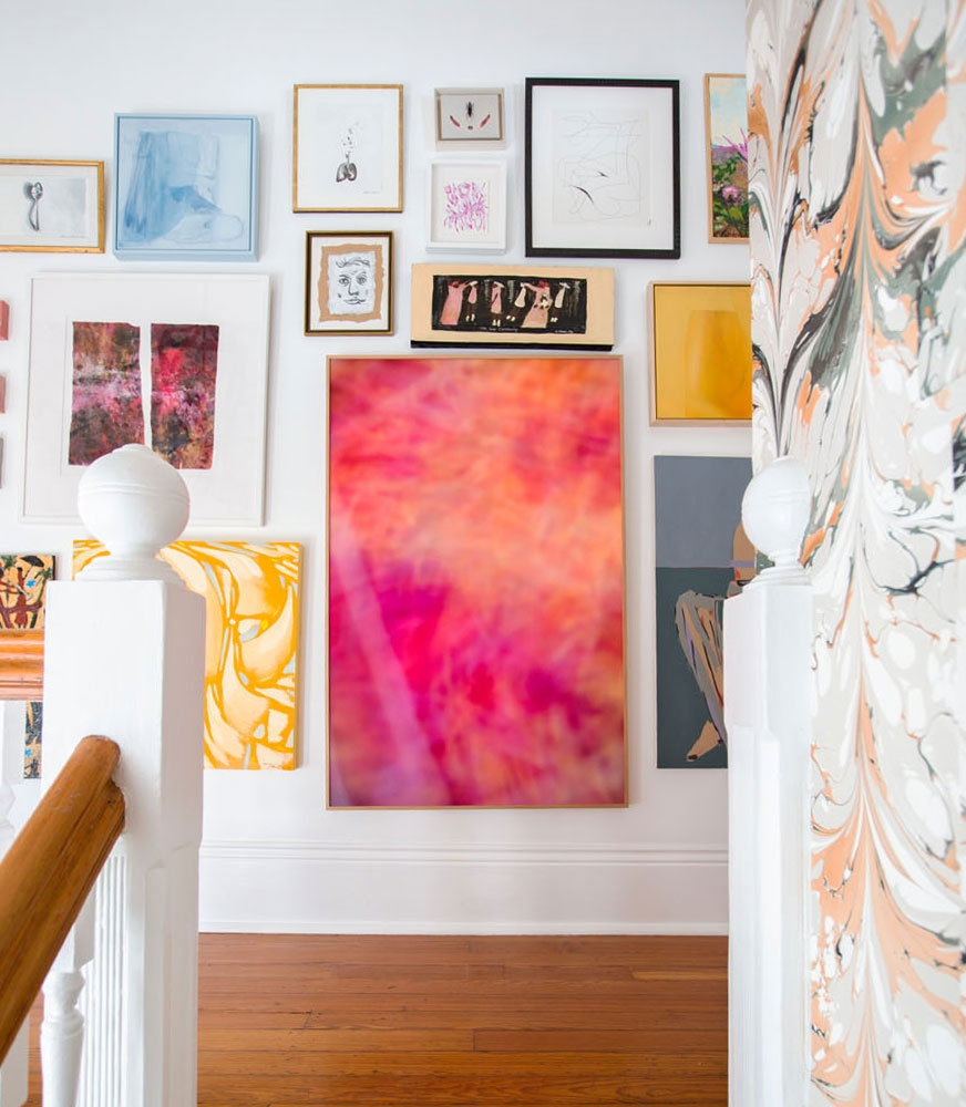 The wall that launched this blog post: Robert Leleux's gallery wall in the 2016 Southern Style Now show house in New Orleans, Louisiana.