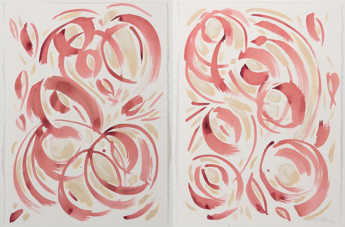 Weekends I & II (pair of 22x30 unframed works on paper; $3,400)