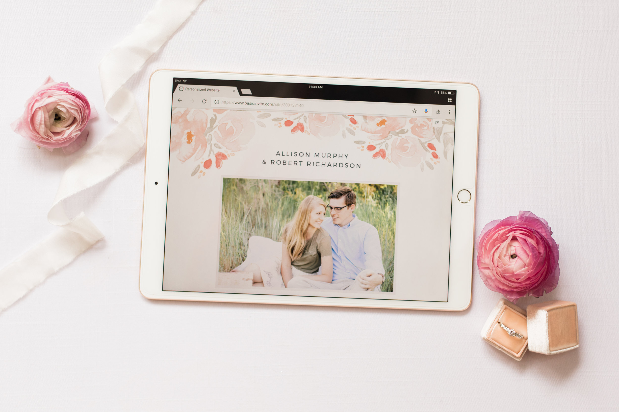 Alyssa Parker Photography free wedding website