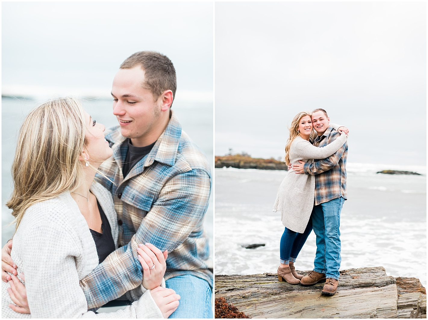 New England Coastal Engagement Session by Alyssa Parker Photography