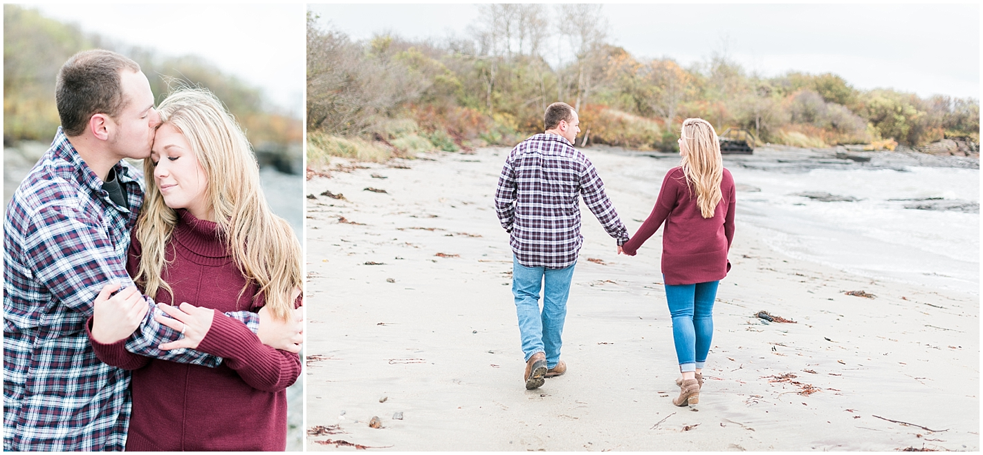 Burgundy Engagement outfits by Alyssa Parker Photography