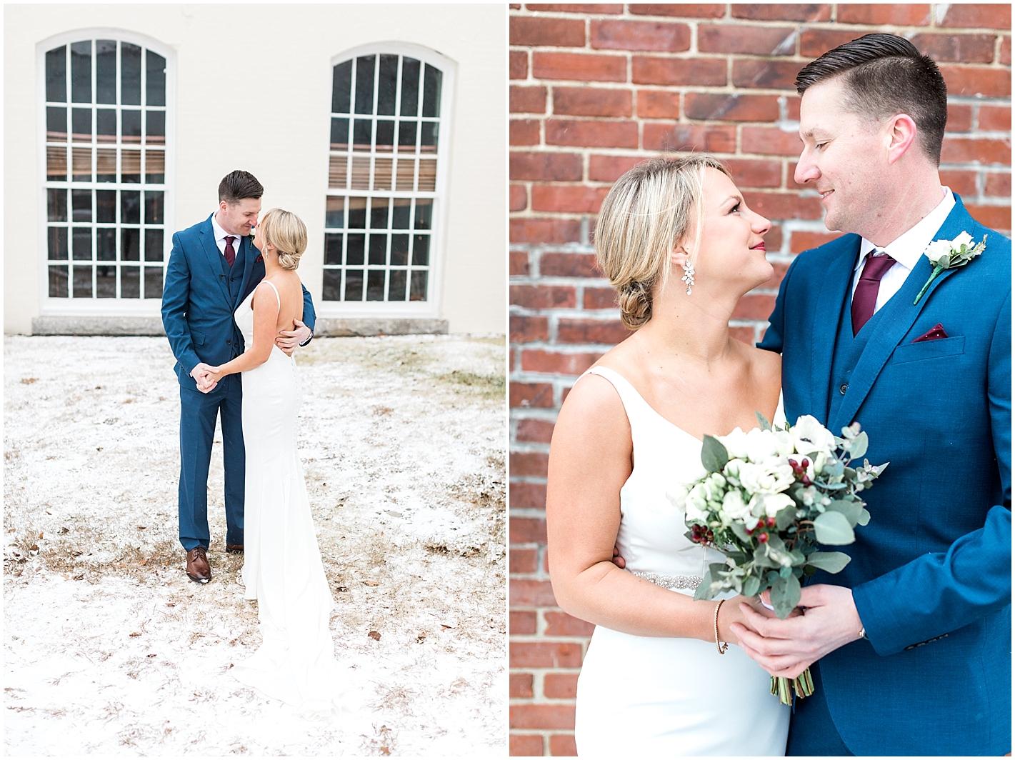 Winter Wedding Bride and Groom Portraits by Alyssa Parker Photography