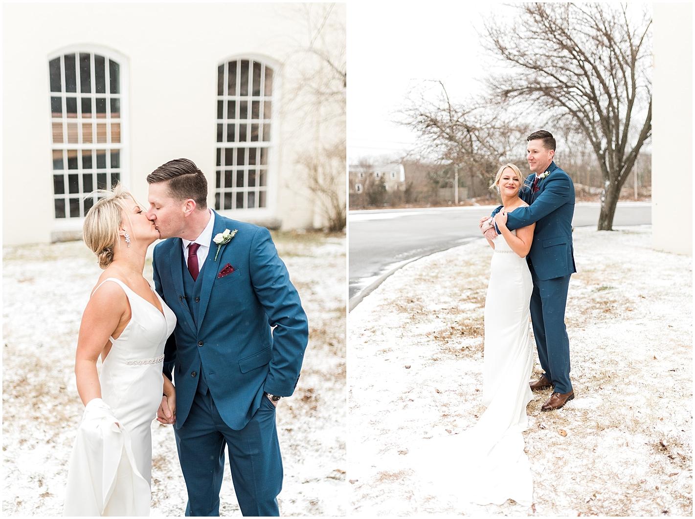 January wedding portraits  by Alyssa Parker Photography