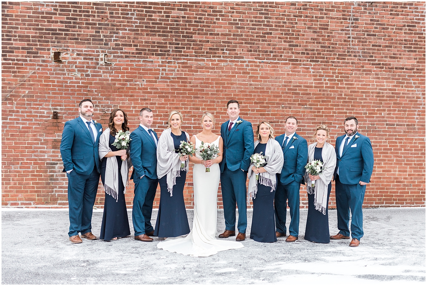 Navy Blue Wedding Party Attire Photo by Alyssa Parker Photography