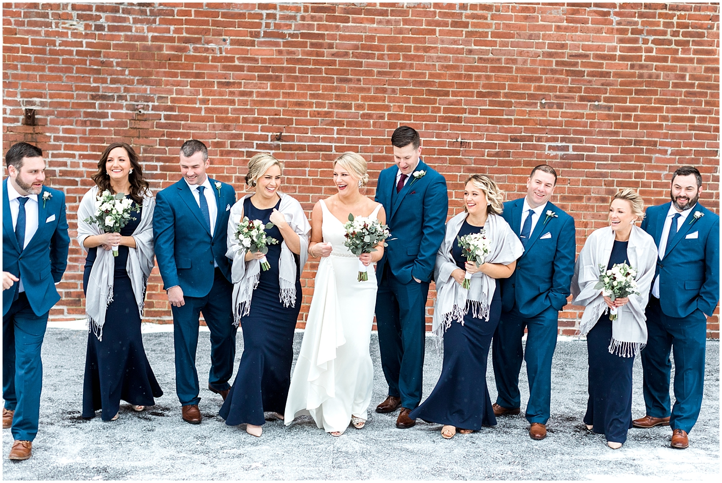 Winter Wedding party Photo by Alyssa Parker Photography