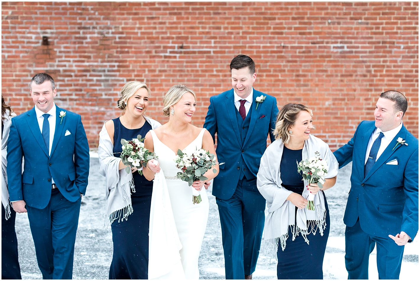 Candid Wedding Party Photo by Alyssa Parker Photography