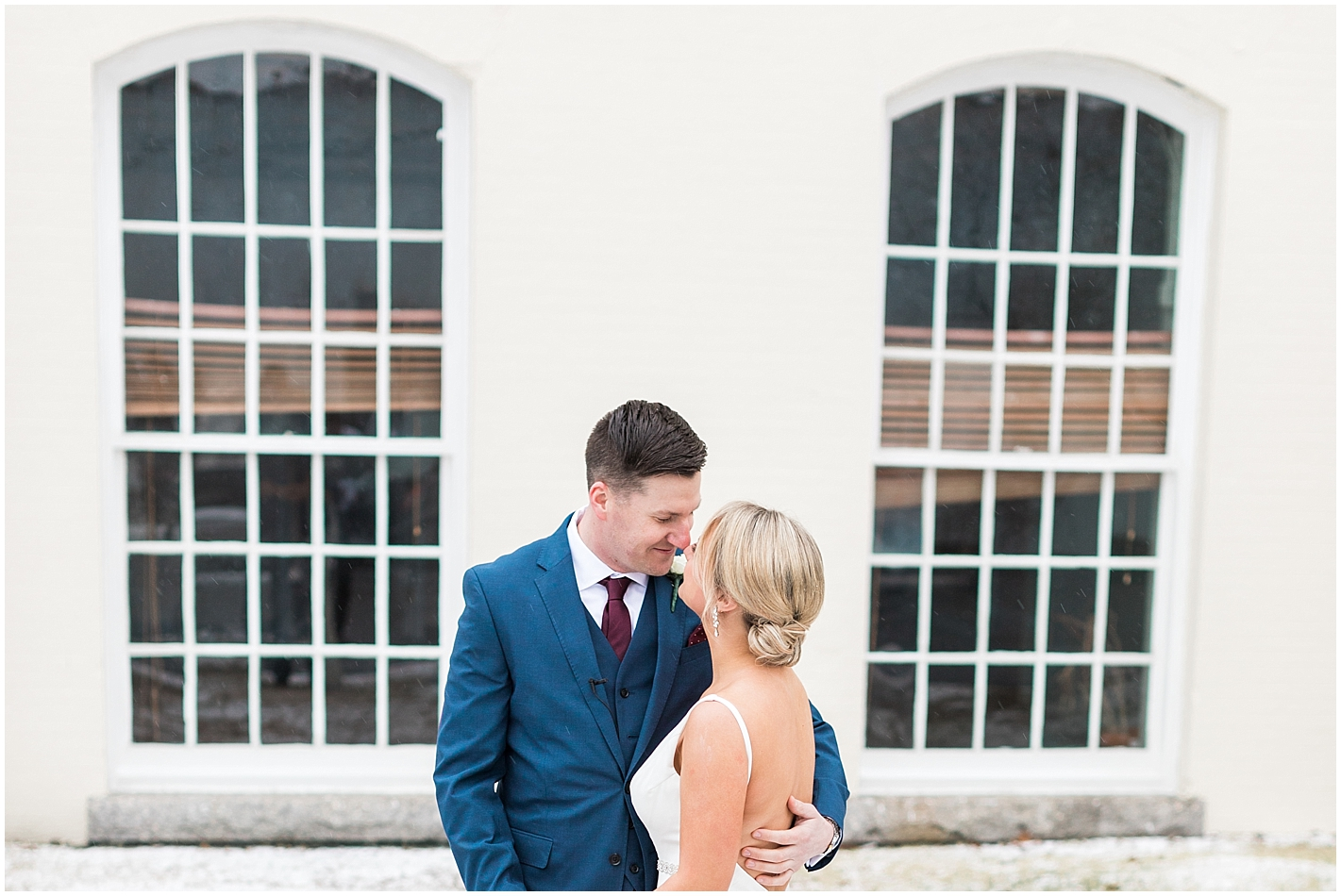 Winter Plymouth Wedding Photo by Alyssa Parker Photography
