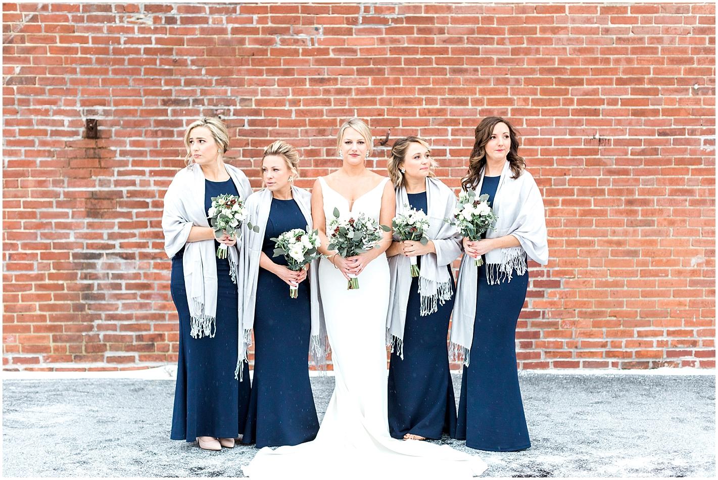 Gray bridesmaid Shawls Photo by Alyssa Parker Photography