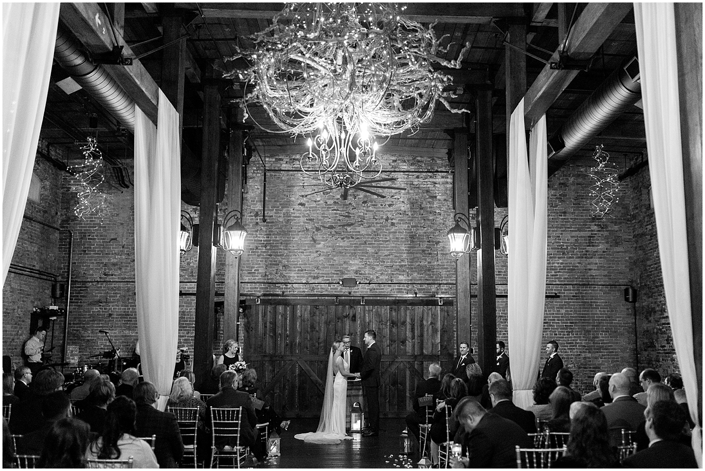 High ceiling Wedding ceremony venue Photo by Alyssa Parker Photography