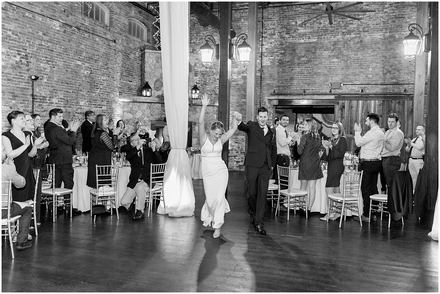 Bride and Groom Grand Entrance Photo by Alyssa Parker Photography